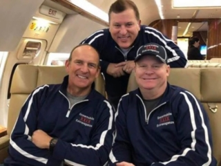 Brad Duncan and Friends on a jet
