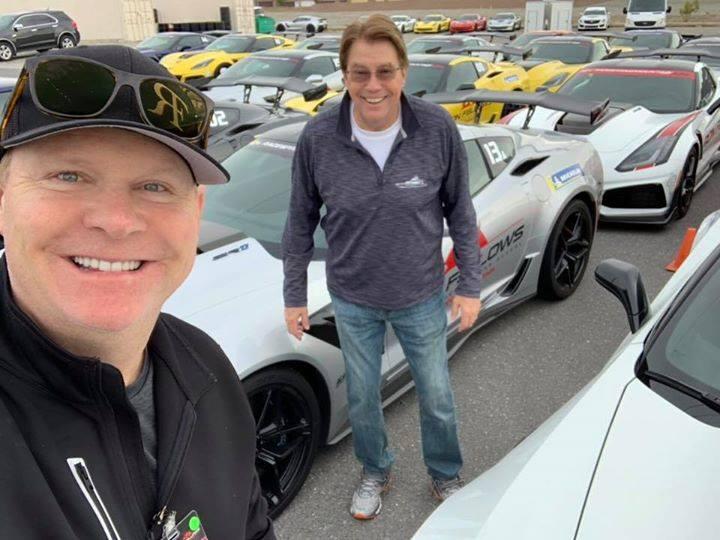 Brad Duncan with Bill Hawkins selfie at parking area